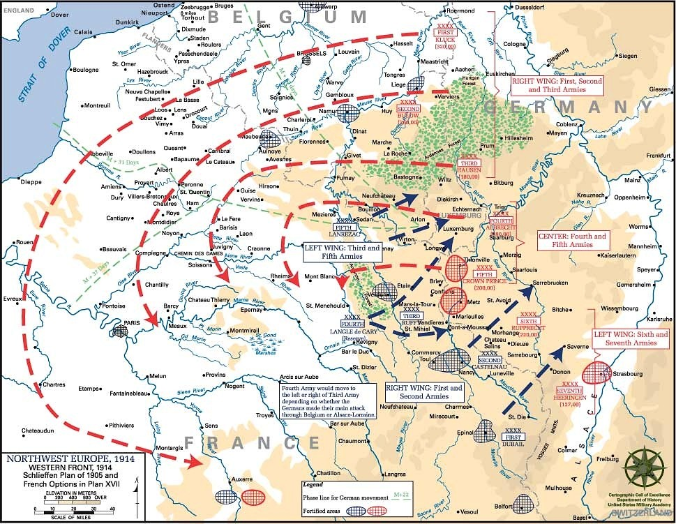 an examination of the idea behind the schlieffen plan A bbc bitesize secondary school revision resource for standard grade history  on the schlieffen plan: what happened, why did the schlieffen plan fail.